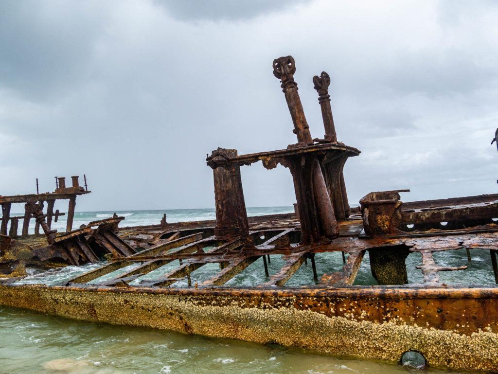 L'épave du bateau