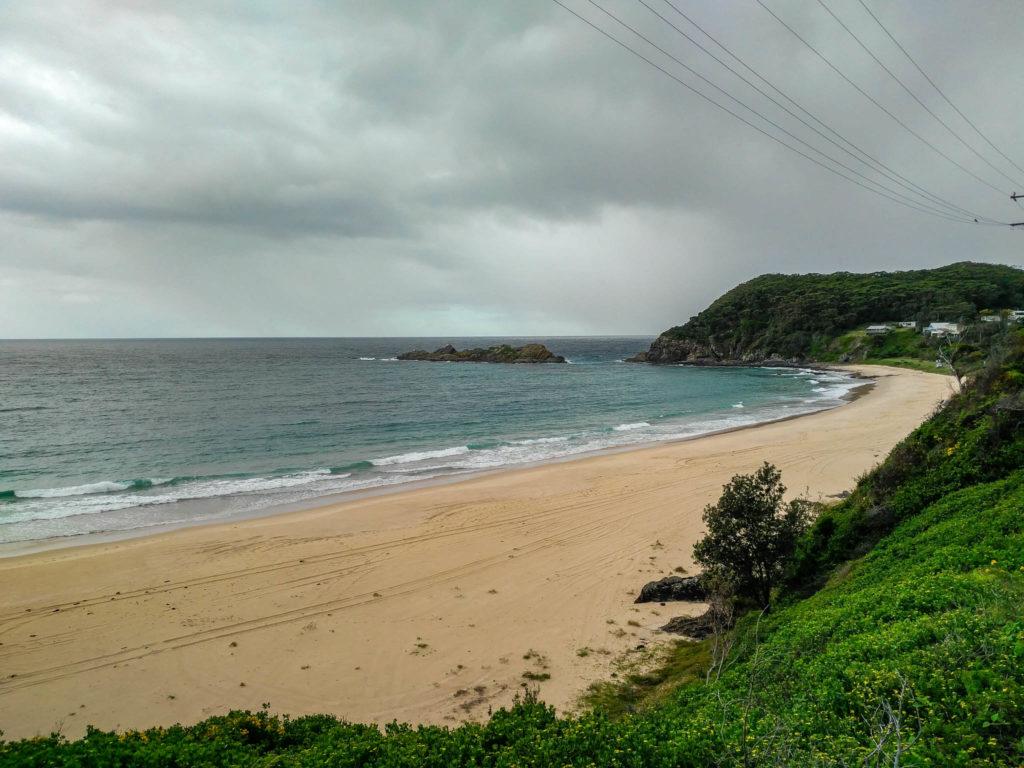 La plage de Seal rock