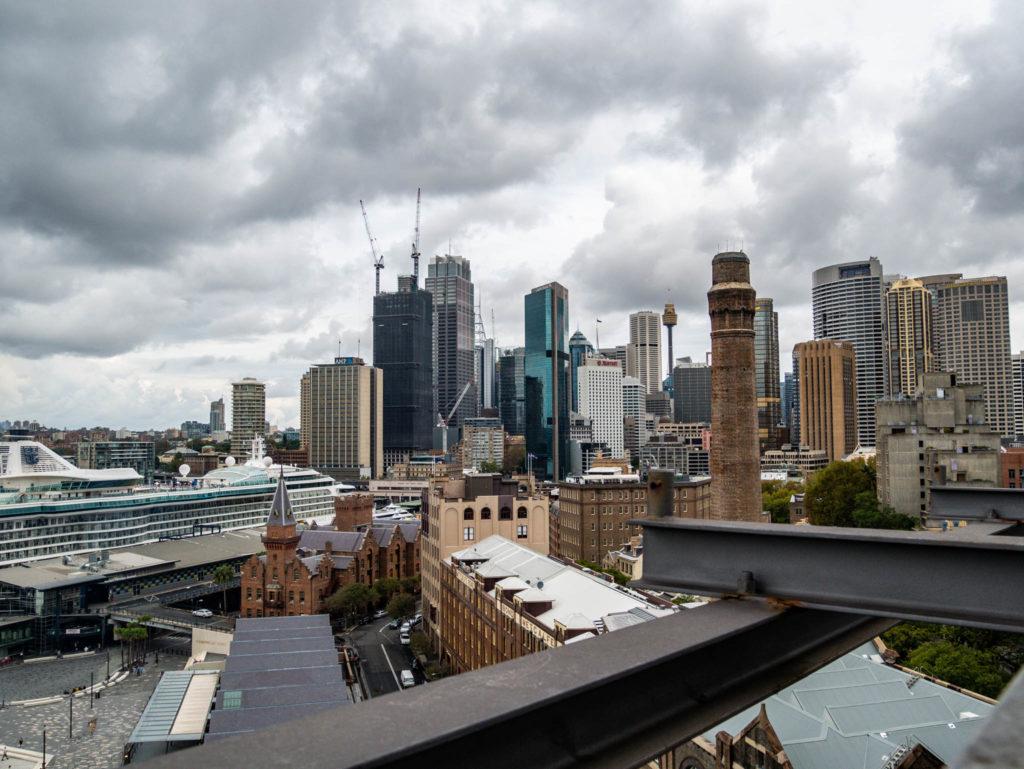 Vue de Sydney depuis le Harbour bridge