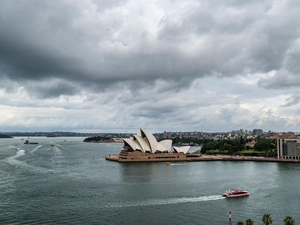 Vue de l'opéra depuis l'Harbour bridge