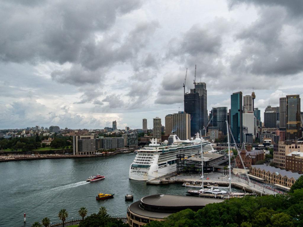 Vue du port de Sydney depuis l'Harbour bridge