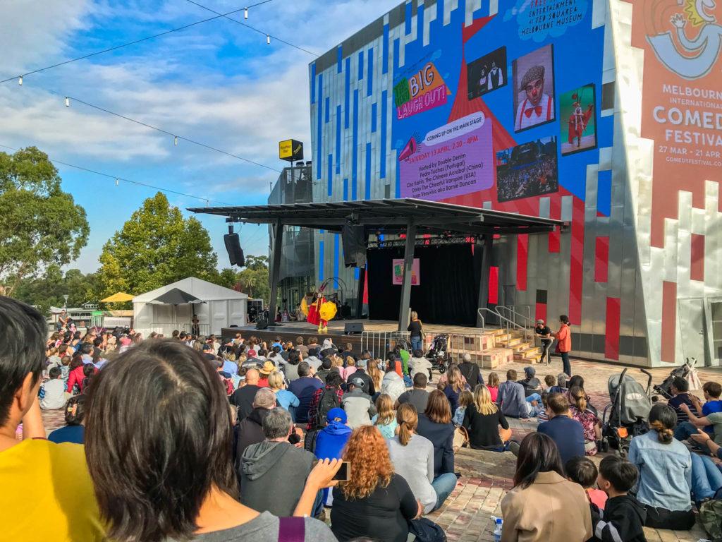 Un spectacle sur Federation square